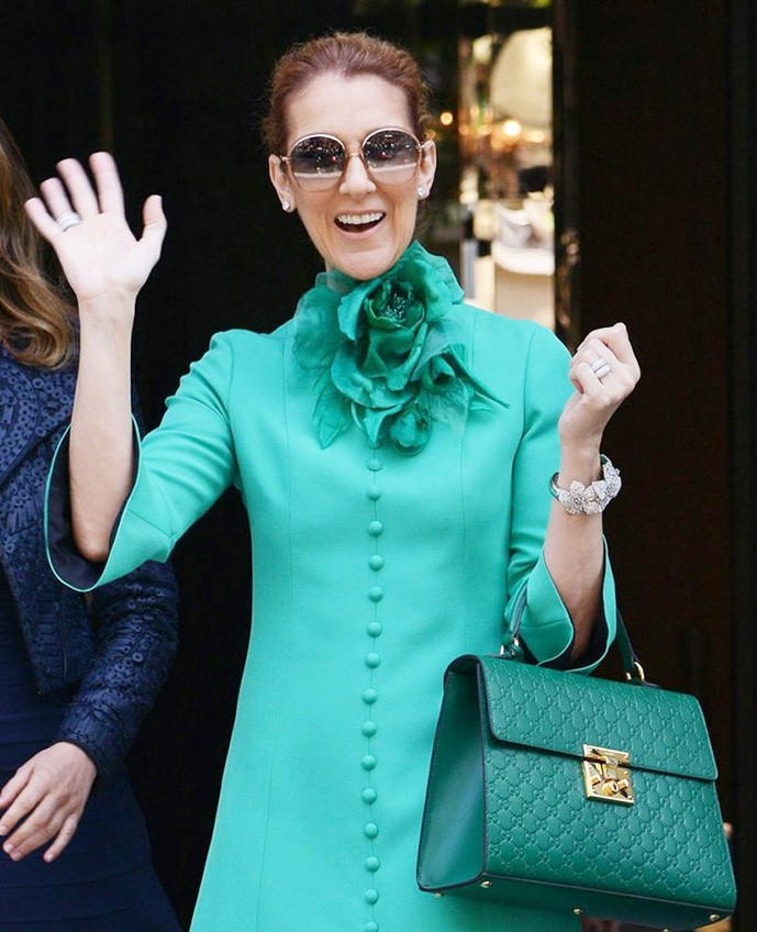 Celine Dion in Paris Wearing Gucci -Celine Dion- Estrella Fashion Report
