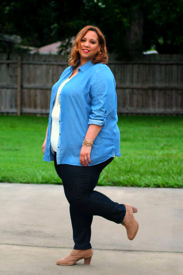Farrah Estrella-Estrella Fashion Report-Denim-Plus Size Jeans-Denim on Denim