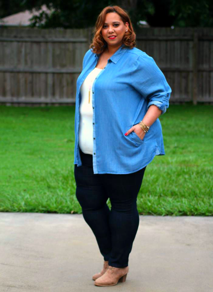 Farrah Estrella-Estrella Fashion Report-Denim on Denim-Plus Size Jeans-Avenue