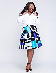 Plus Size Midi Skirts-Lane Bryant- Circle Skirts- Skirts