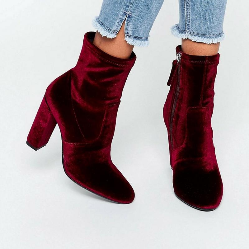 Velvet Boots-Velvet- Velvet Shoes-