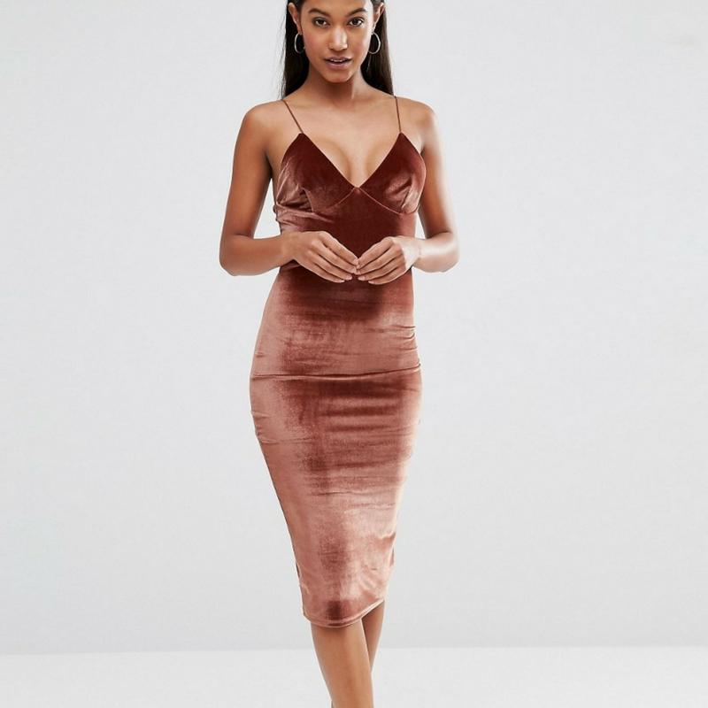 Midi Dress-Velvet dress-Velvet Dresses-Asos-Asos Dresses