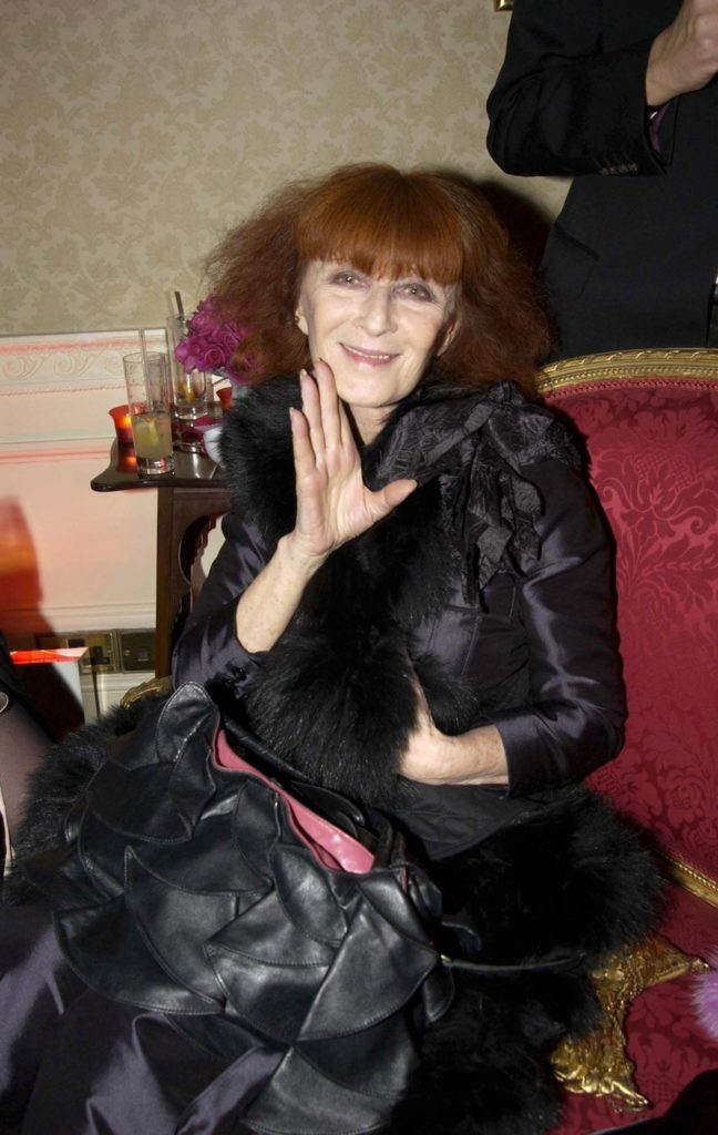 Fashion Designer SONIA RYKIEL Photo by RICHARD YOUNG/REX/Shutterstock