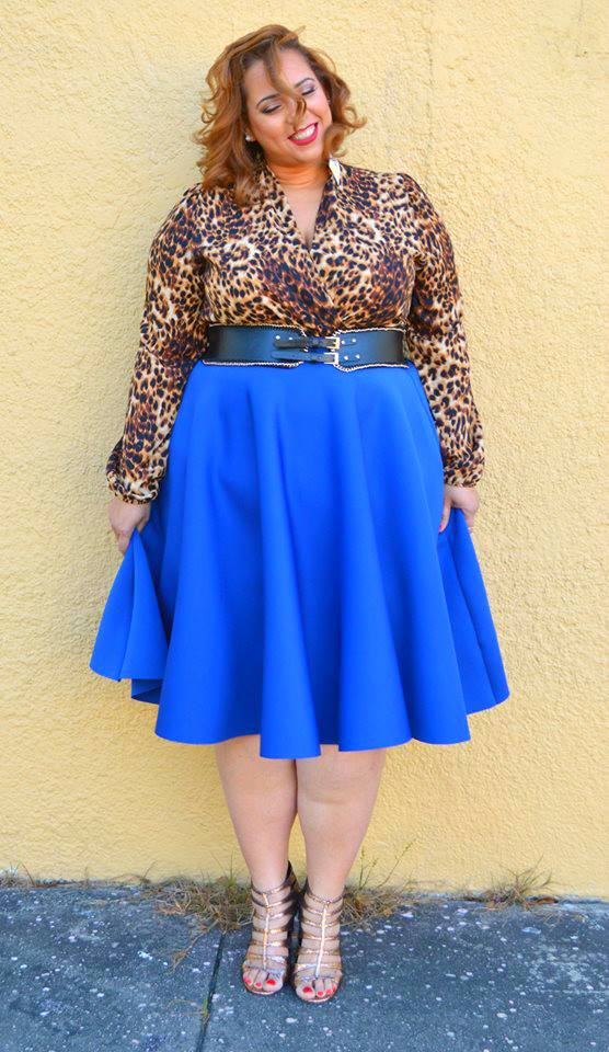 Farrah Estrella-Estrella Fashion Report-Latina-Plus-Size-Blogger-Cobalt Blue-