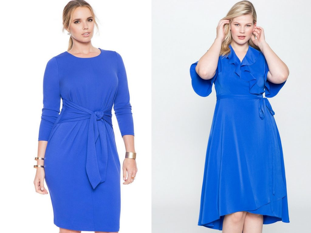 Blue Dresses-Plus Size Dresses-Estrella Fashion Report-