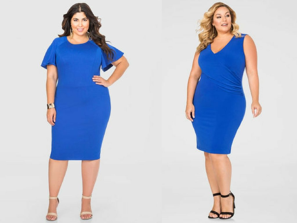 Plus Size Blue Dresses-Blue Dress-Estrella Fashion Report-Plus Size Dresses