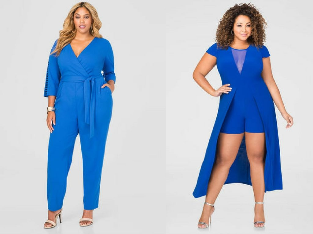 Blue Dresses-Blue Jumpsuits-Plus Size Dresses-Ashley Stewart