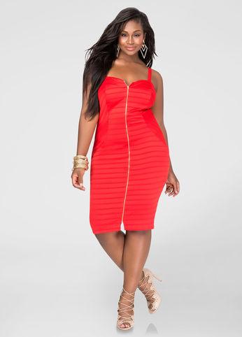 Red-dress-ashley-stewart-plus-size-dresses-estrella-fashion-report