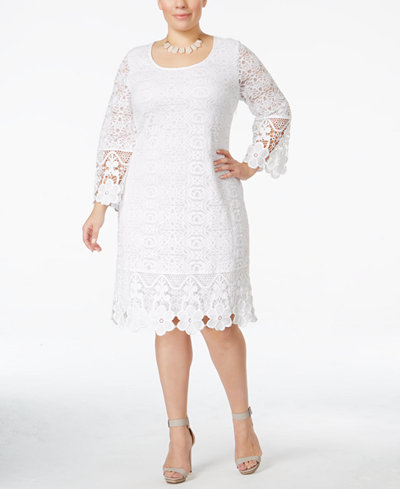 white-lace-shift-dress-macys-shopping-plus-size-fashion