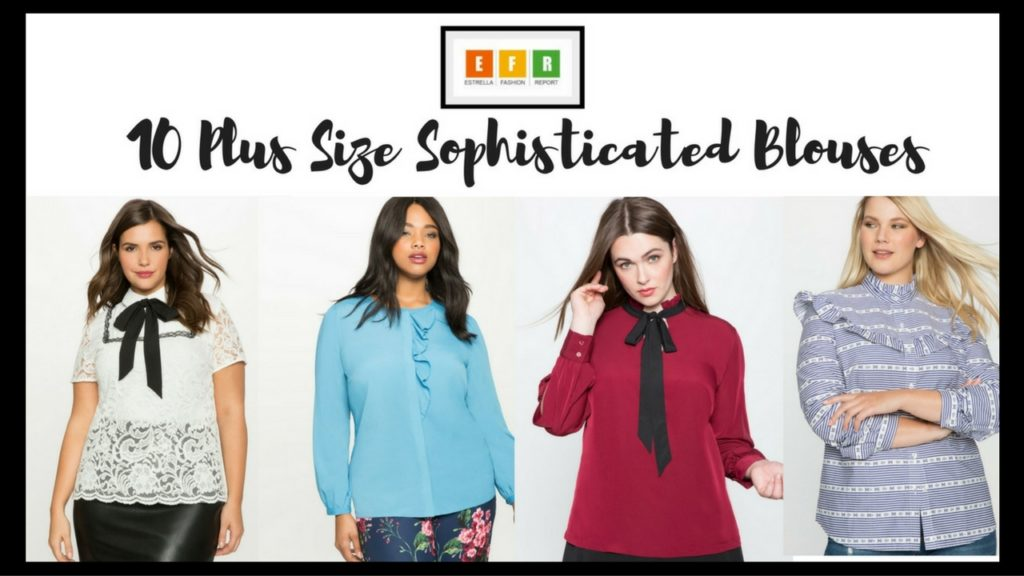 701470699dd355 10 Plus Size Sophisticated Blouses – Estrella Fashion Report