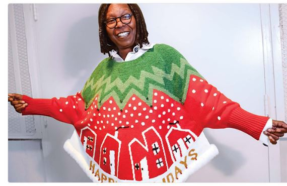 Whoopi Goldberg Ugly Christmas Sweater Collection At Lord Taylor