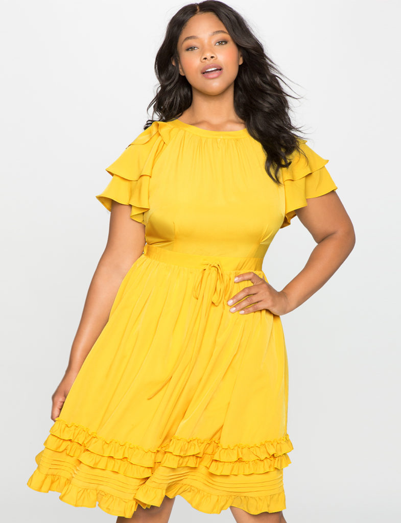 yellow-fit-and-flare-dress-from-eloquii