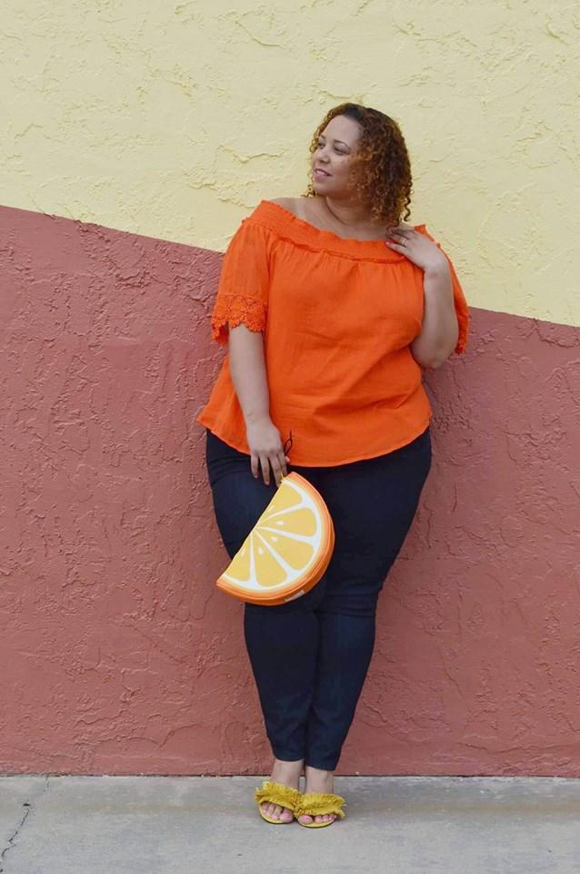 aecd5ff9cd3572 fashion-blogger-farrah-estrella-latina-beauty-blogger. Shop for Plus Size  Off-The-Shoulder Tops below