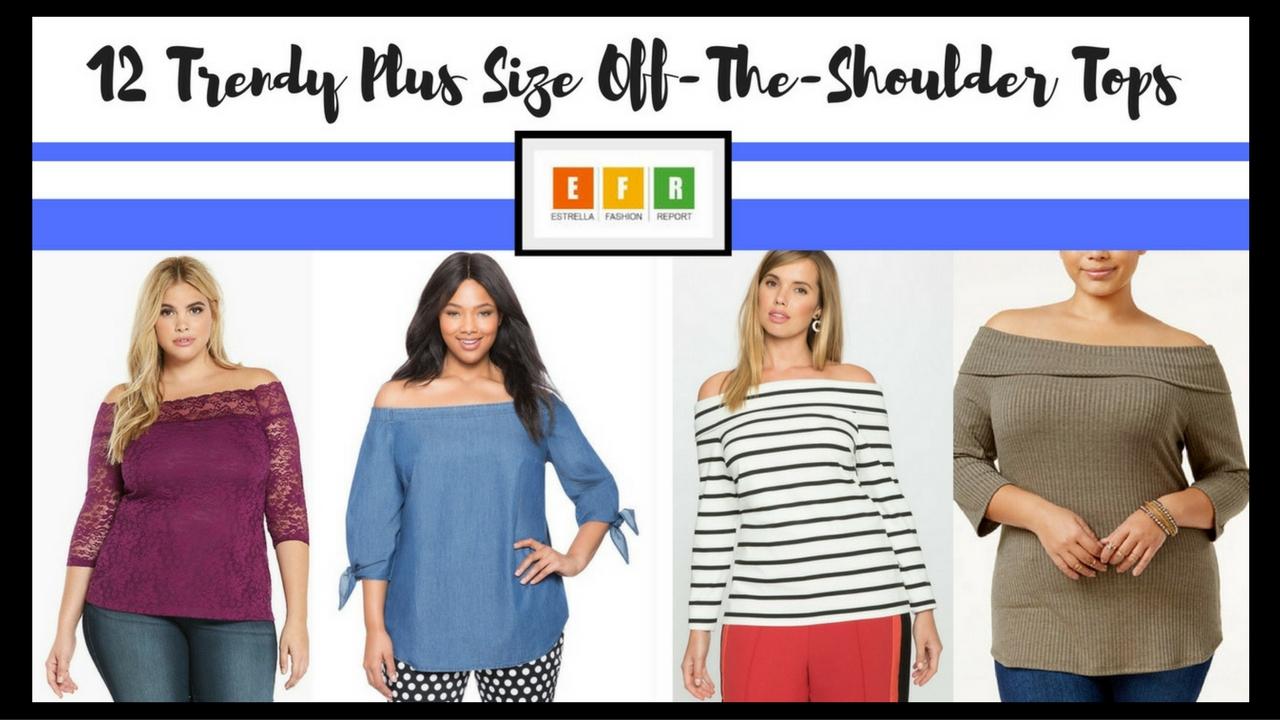 1dabff448371d4 12 Trendy Plus Size Off-The-Shoulder Tops – Estrella Fashion Report