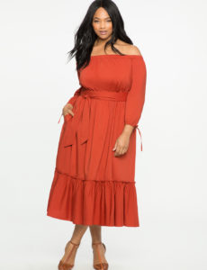 plus-size-off-the-shoulder-orange-dress-eloquii