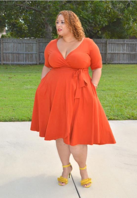 Size 8 cheap dresses orange