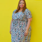 OOTD: Plus Size Midi Length Dress from Swak Designs
