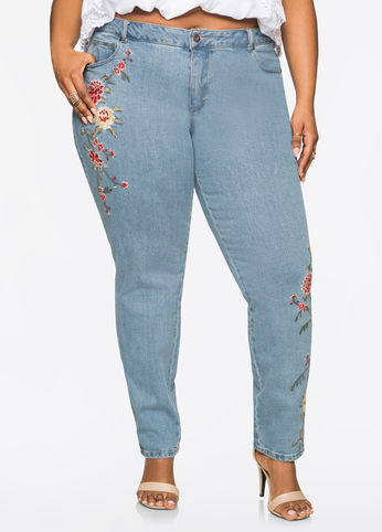 floral-embroidered-skinny-jean-from-ashley-stewart