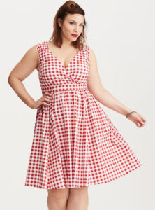 retro-chic-gingham-surplice-swing-dress-from-torrid