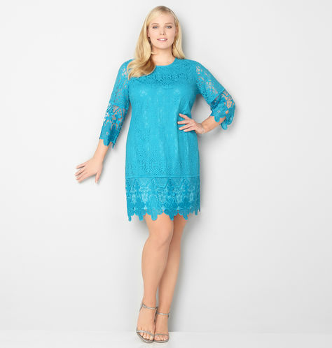 CROCHET-TRIM-LACE-DRESS-avenue-plus