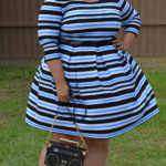 Look of the Day: Plus Size Striped Fit & Flare Dress