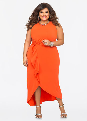 orange-plus-size-maxi-dress-from-ashley-stewart-model-christina-mendez