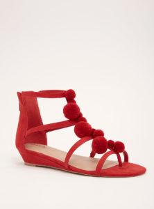 red-pom-pom-t-strap-sandal