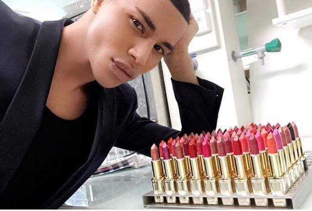 balmain-olivier-rousting-with-balmain-for-loreal-lipstick-collection
