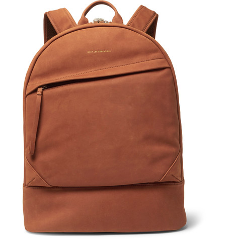 want-les-essentiels-leather-trimmed-suede-backpack