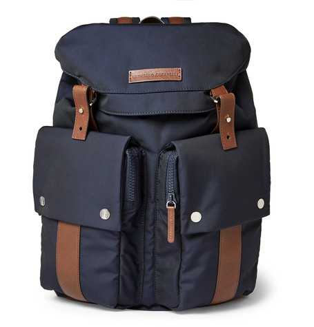 brunello-cucinelli-leather-trimmed-backpack