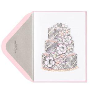 PAPYRUS-Judith-Leiber-Pink-Pearl-Weding-Cake-Card