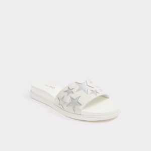 estrellas-white-slides-from-aldo-shoes