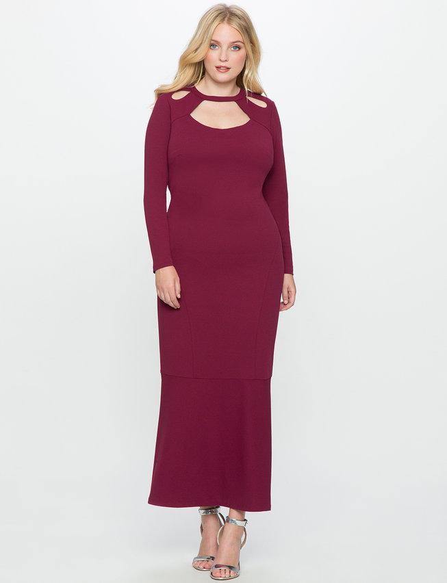 cutout-neckline-gown