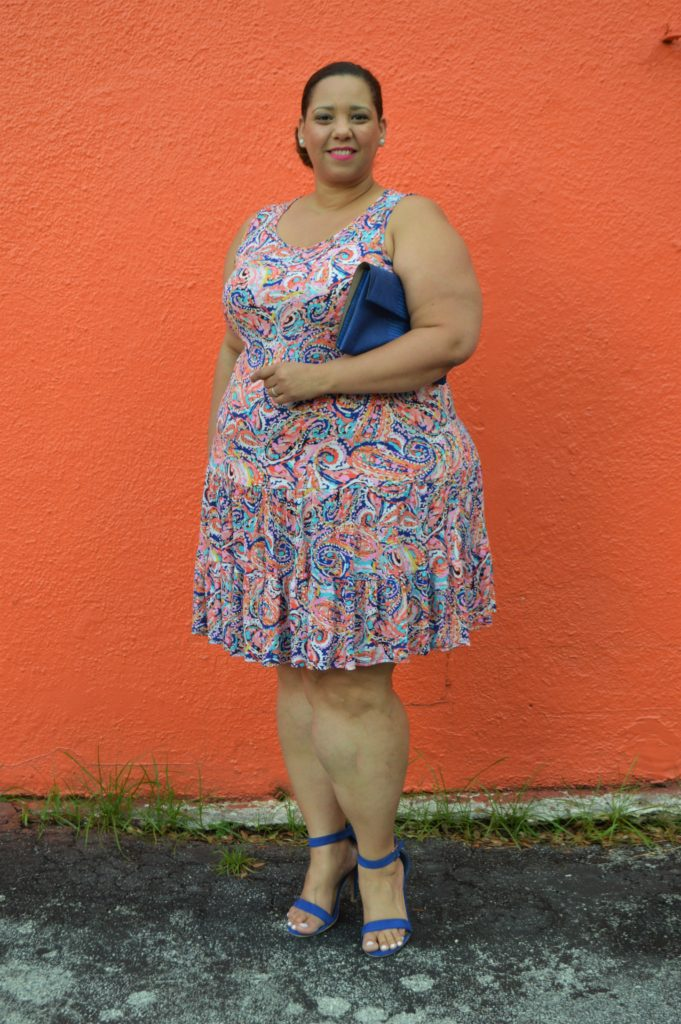 Womens-Plus-Size-Paisley-Tiered-Tank-Dress