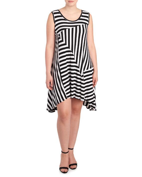 asymmetrical-stripe-plus-size-tank-dress