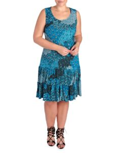 peacock-print-plus-size-tank-dress-from-steinmart