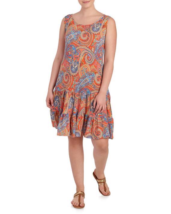 plus-size-printed-shift -dress