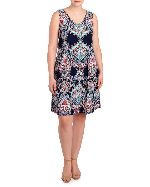 Women-Plus-Size-Paisley-Print-Tank-Dress