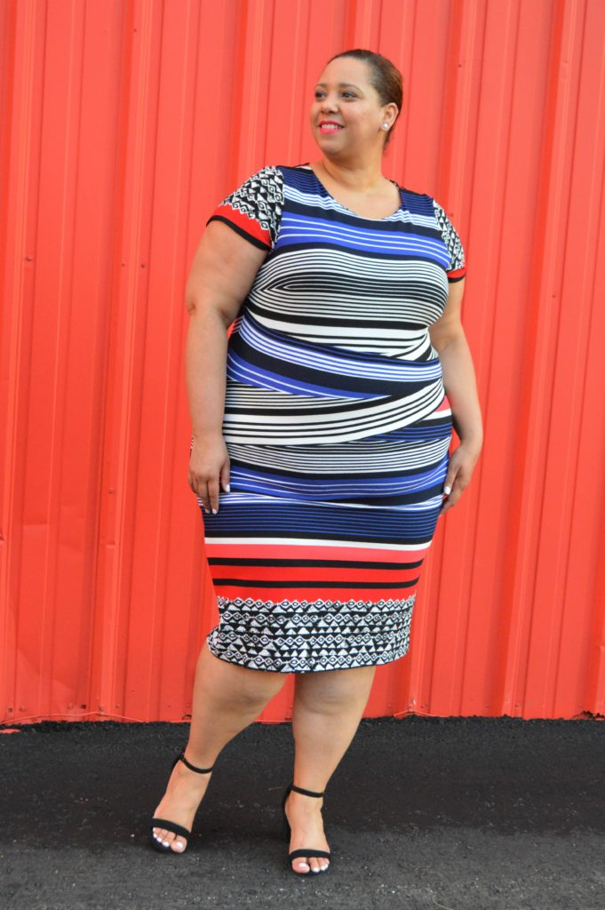 Plus-size-Knit-Dress-with-Cap-Sleeves-and-Stripes-from-burlington