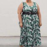 OOTD: Palm Leaf Print Maxi Dress
