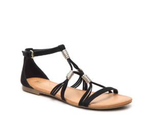 black-flat-sandal