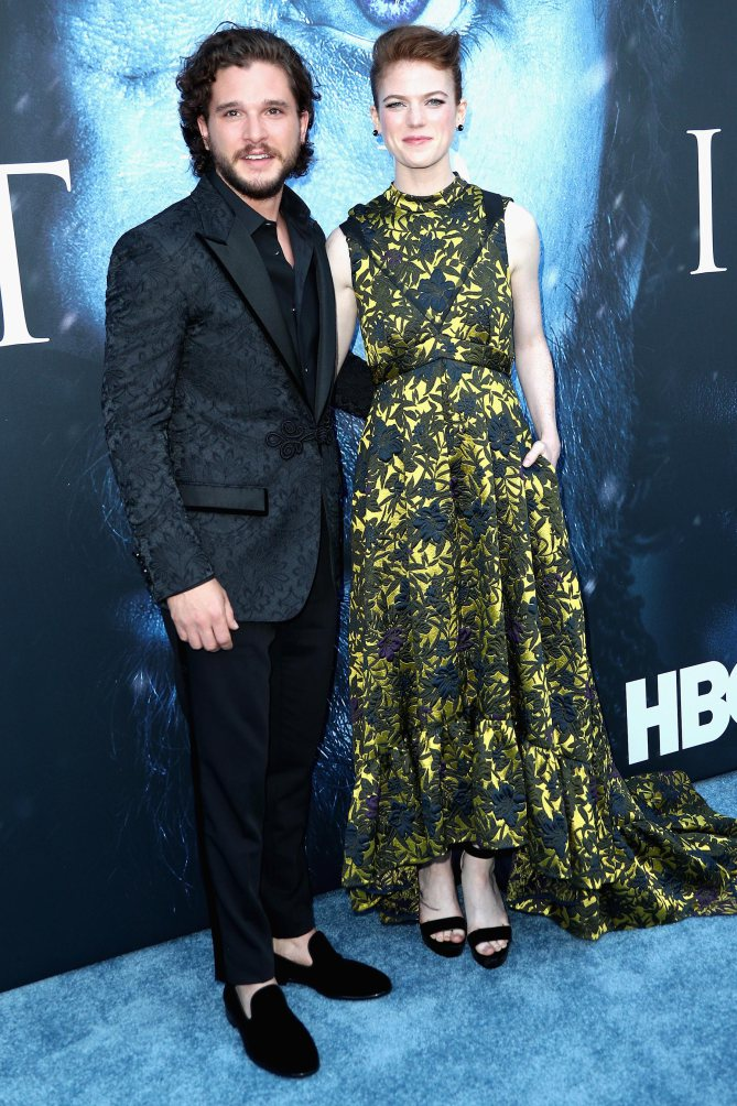 actor-kit-harrington-and-actress-rose=leslie-from-game-of-thrones