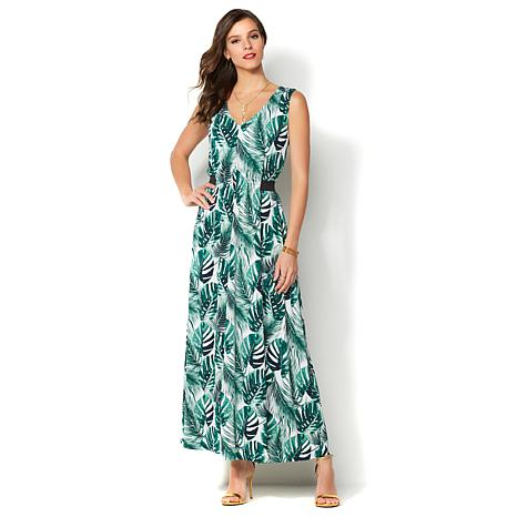 green-palm-print-plus-size-maxi-dress
