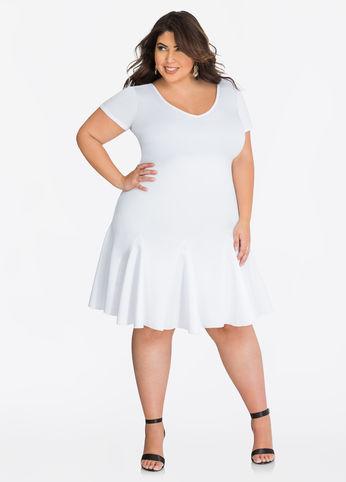 white plus size skater dress from ashley stewart