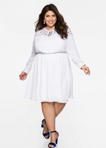 vestido blanco de talla grande
