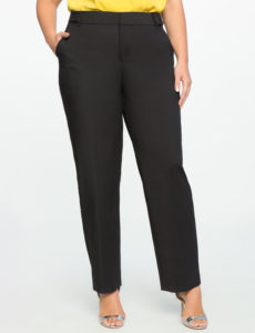 black plus size pants from eloquii