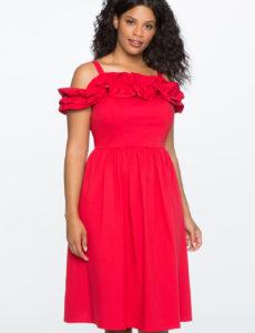 vestidos rojos de tallas grandes de eloquii