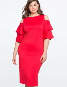 plus size red dress from eloquii