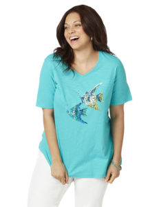 plus size graphic tee from catherines