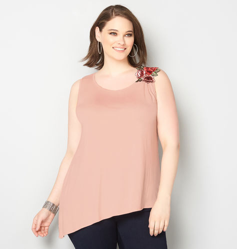 plus-size-asymmetric-embroidered-top